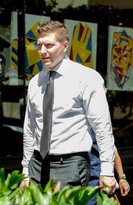 Matthew Holberton pictured leaving the Downing Centre in February. Picture: Monique Harmer.