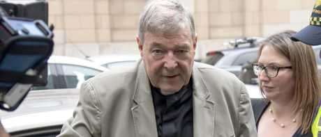 George Pell arriving at the County Court in Melbourne last month. Picture: ANDY BROWNBILL