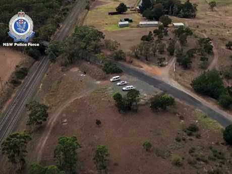 Detectives have conducted a forensic search in bushland about 16km southwest of Goulburn as part of the investigation into the suspicious disappearance of Samah Baker. Picture: NSW Police