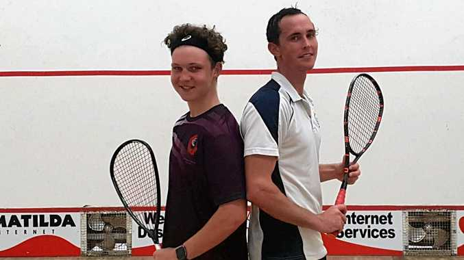 RISING STAR: Wes Dyer, 16, defeated Ben Courtice in Saturday's Squash 52 tournament in preparation for the North Queensland Q Squash selection tournament and Australian Junior Open.