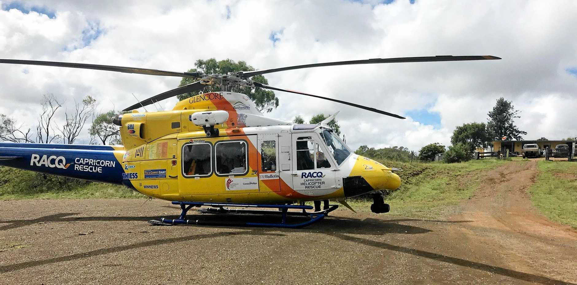 The rescue chopper has been called to the scene.