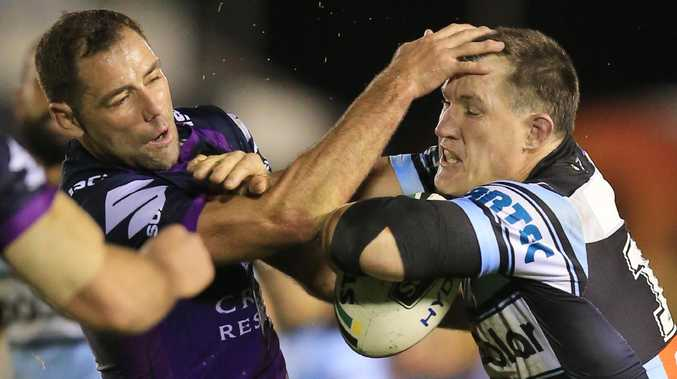 Paul Gallen has rebuked Cameron Smith's calls for Melbourne's stripped NRL premierships to be reinstated. Picture: Mark Evans