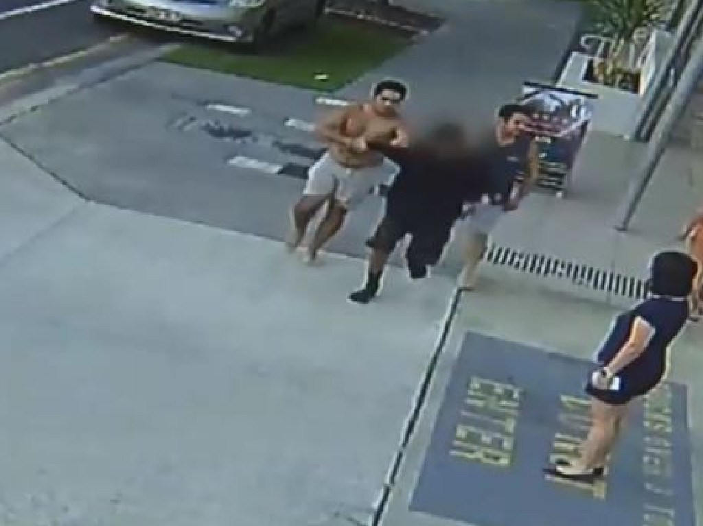 The boys attempted to flee the scene but were caught by bystanders. Photo: 7 News.