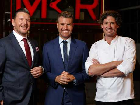 MKR's judges -Feildel, Pete Evans and Colin Fassnidge.