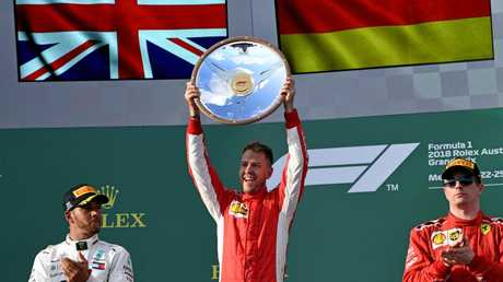 Sebastian Vettel won the first race of the year in Melbourne in 2018.