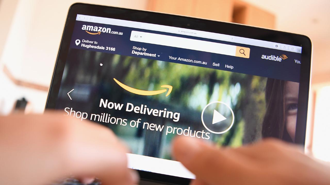"Amazon Australia opened its online store in December 2017 and is reportedly planning an ""aggressive"" retail push in Australia. Picture: Quinn Rooney/Getty Images"