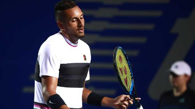 Nick Kyrgios lost his temper.
