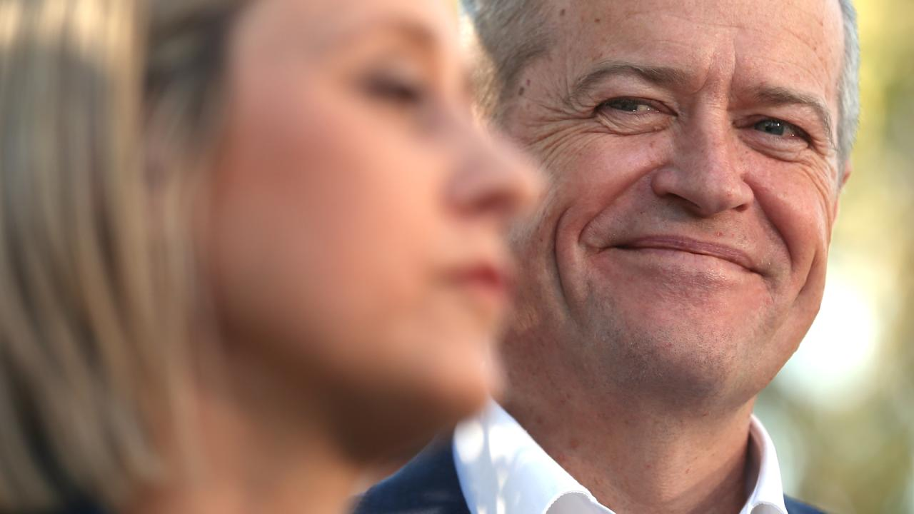 A relieved and happy Opposition Leader Bill Shorten. Picture: Lyndon Mechielsen/The Australian