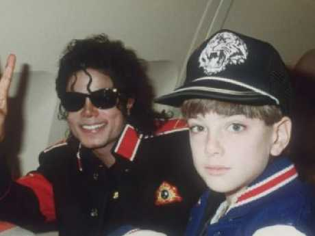 Michael Jackson with his accuser James Safechuck who alleges the star sexually abused him
