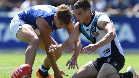 Tom Rockliff dominated against North Melbourne. Picture: Getty Images