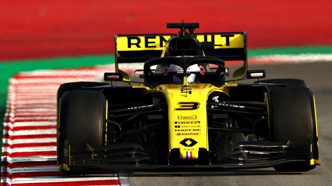 It will be harder going for the Australian in his yellow Renault this year. Pic: Getty Images