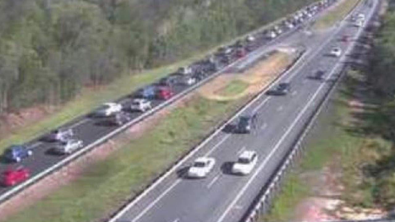 The Bruce Hwy is jammed for Sunday traffic. Photo: Supplied