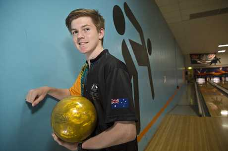 Highfields student Cameron Stein is part of the Australian team competing in the inaugural World Bowling Junior Championships in Paris later this month.