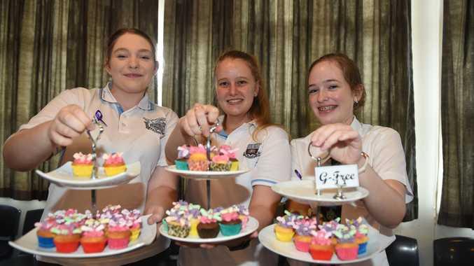 International Women's Day Luncheon at Maryborough State High School - Emily Whell, Laura Wilson-Scheikowski and Makayla Emery.