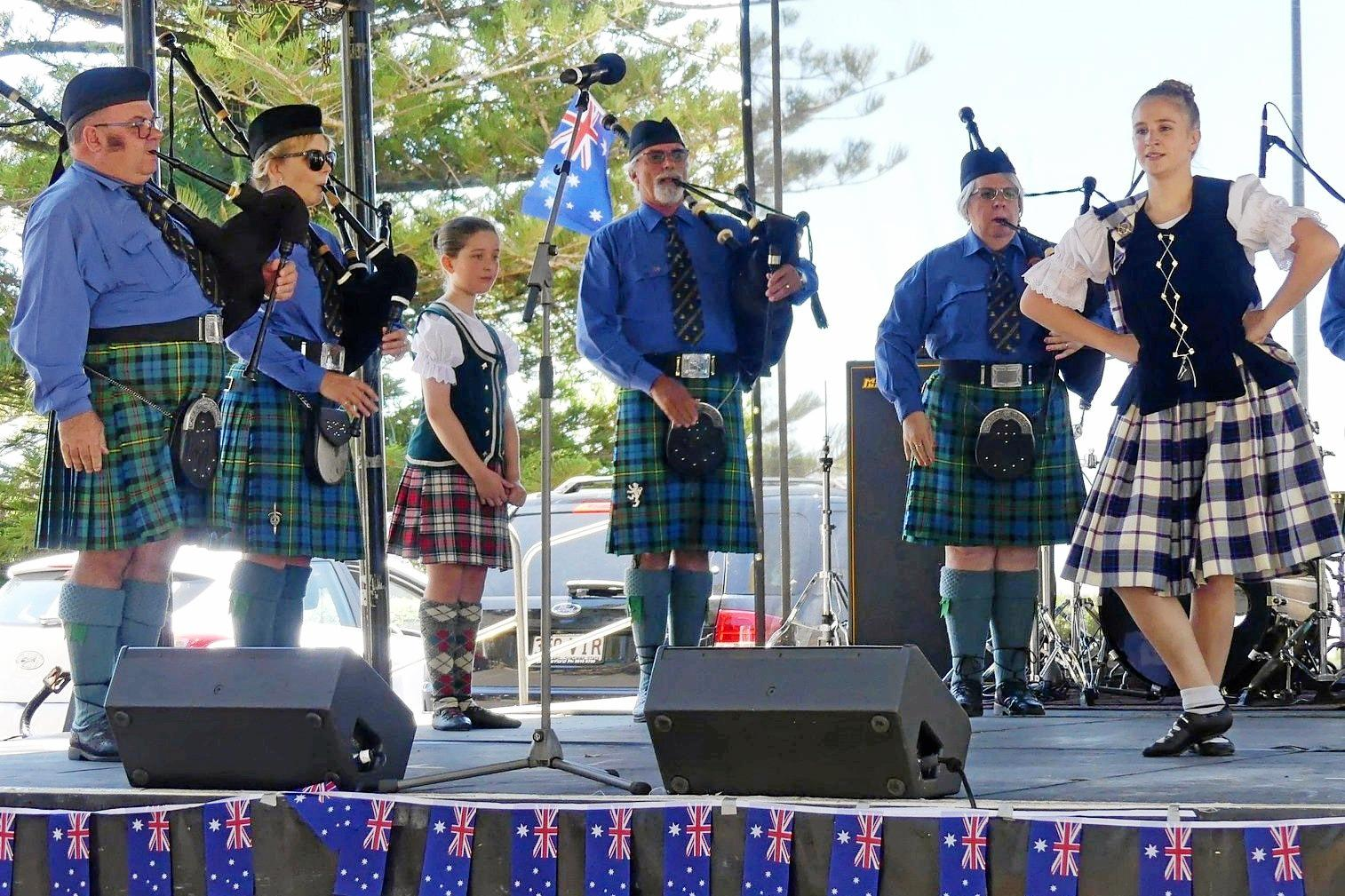 KEEPING UP TRADITIONS: The Toowoomba Caledonian Society and Pipe Band participates in a number of community events, including Australia Day, as well as holding its own Cieldhs.