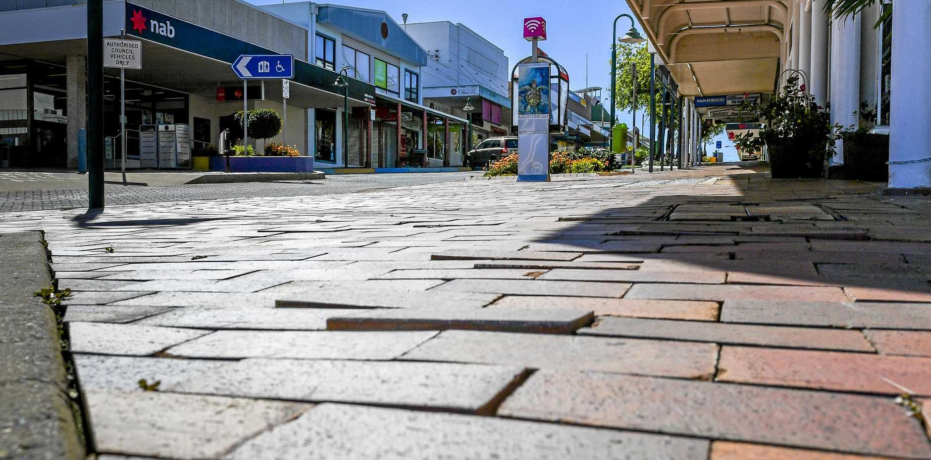 FIX ME: Mayor Matt Burnett is hoping to see the uneven footpath opposite council chambers upgraded.