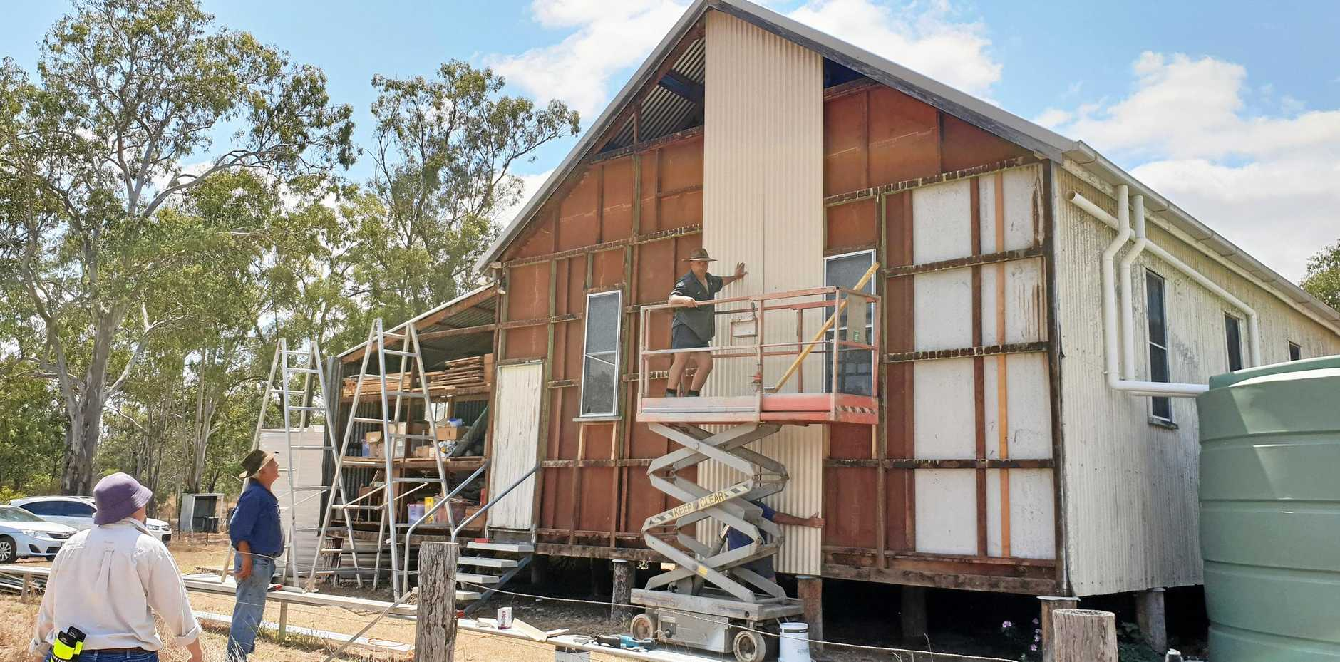 UPGRADE: Dallarnil Sports Club members this past year have upgraded its hall's exterior.