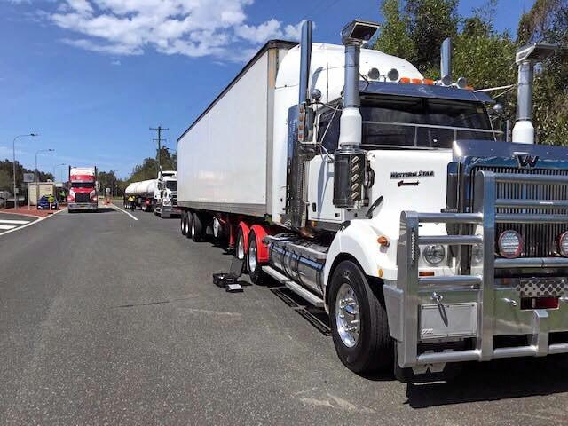 Speed tampering device found on unregistered truck