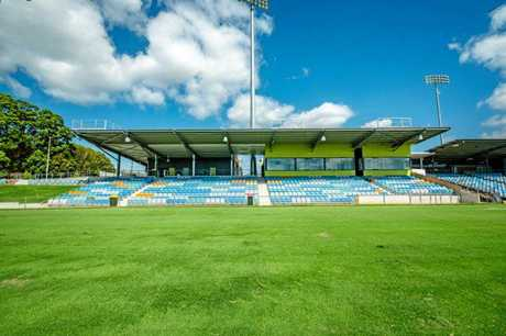 The new southern stands of the C.ex Coffs International Stadium after the $13-million upgrade.