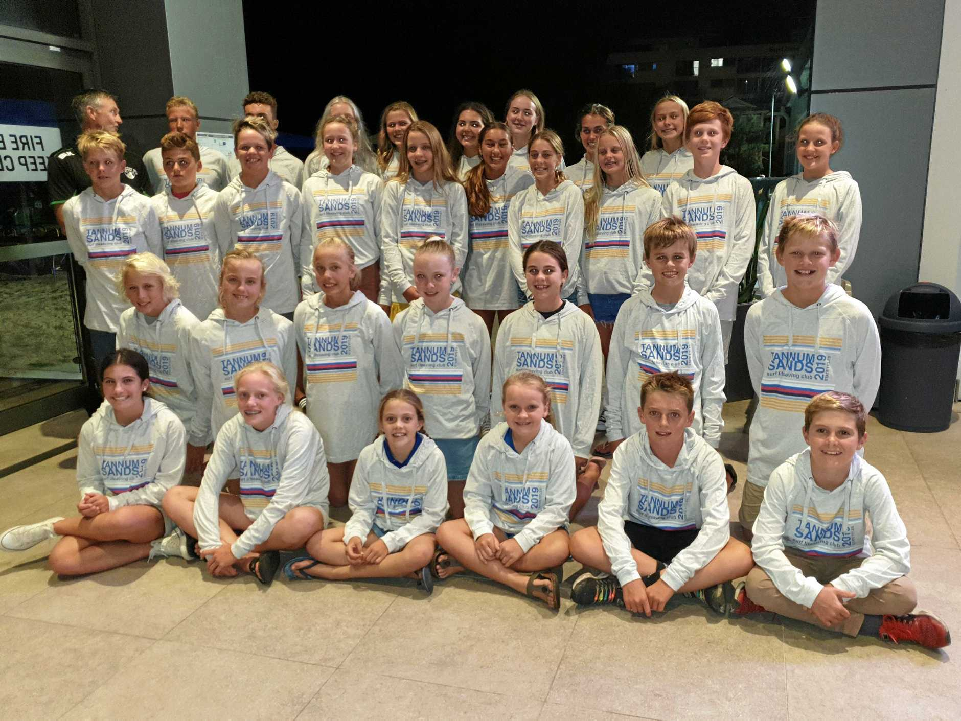 Team Tannum representing at Qld Youth State Surf Lifesaving Championships