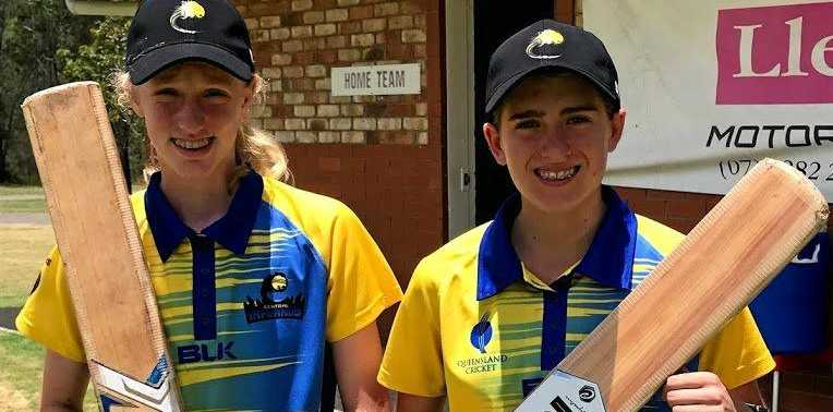 SELECTED: Ella Anderson and Ryleigh Wotherspoon playing for the Central Inferno under-15 cricket team.