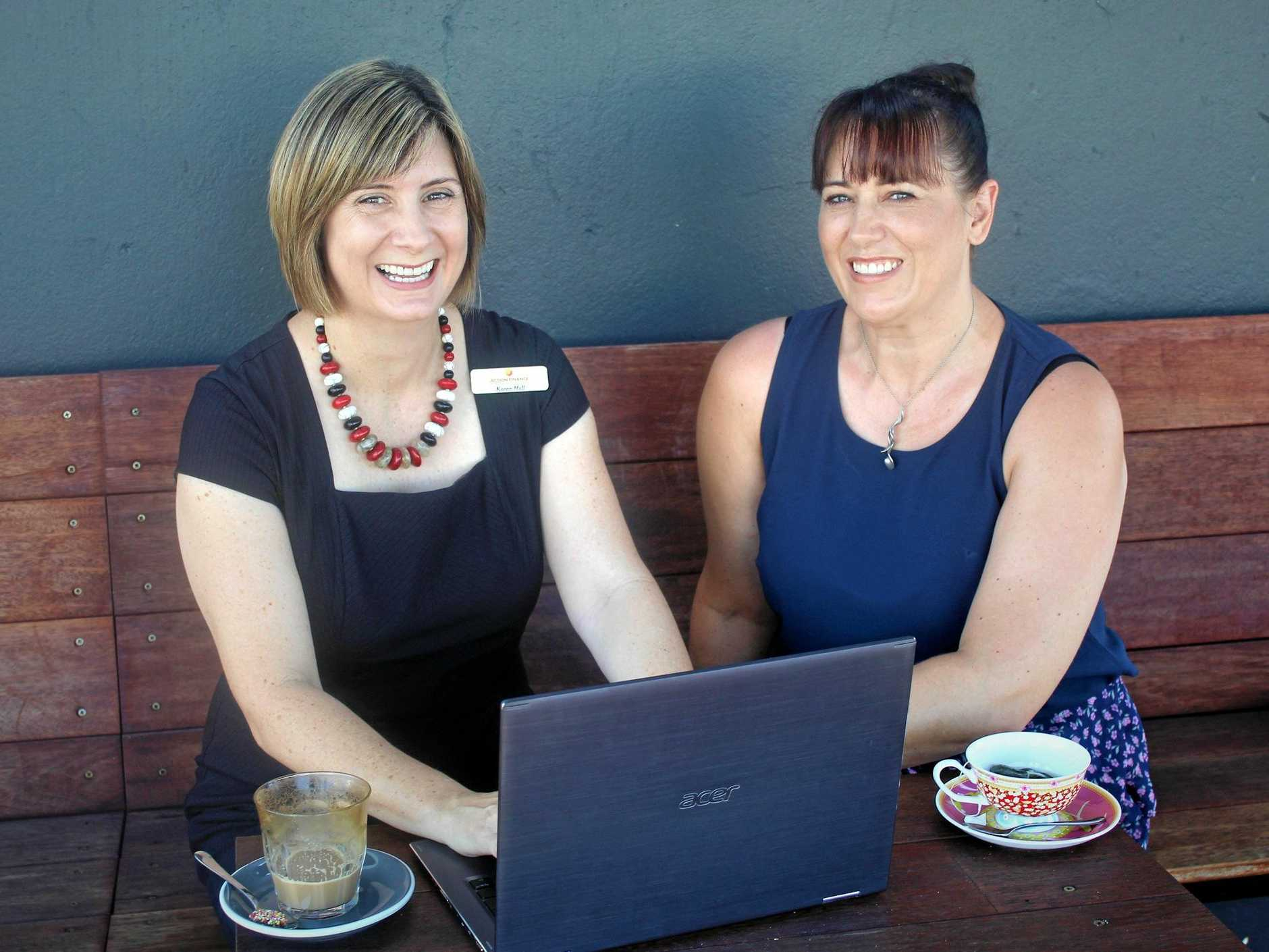 WOMEN IN FINANCE: Action Finance owner Karen Fall and Amanda Alderson from Dealer Direct Finance work from home to meet the needs of their customers.