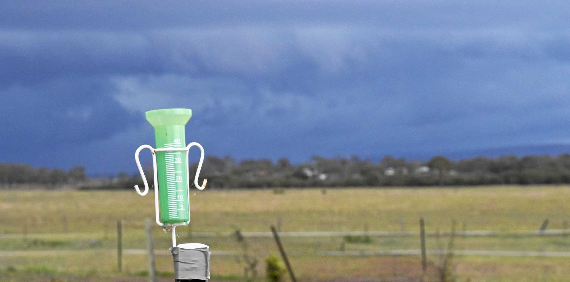 Warwick's rain gauge could feel that long forgotten touch of water later this week.