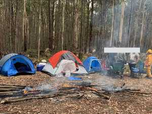 'Idiot' campers' slammed for stupid act