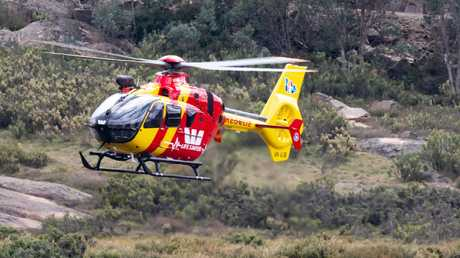 The Westpac Rescue chopper scours the alpine area. Picture: Sarah Matray