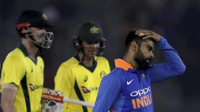 India's captain Virat Kohli leaves the ground after losing to Australia. (AP Photo/Altaf Qadri)