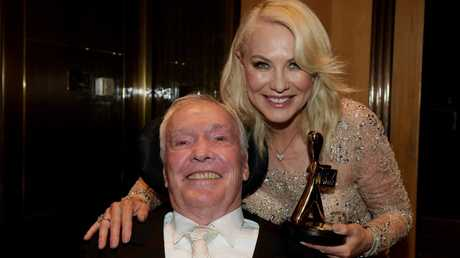 The Kennerleys after Kerri-Anne won the Gold Logie in 2017. Picture: Tracey Nearmy