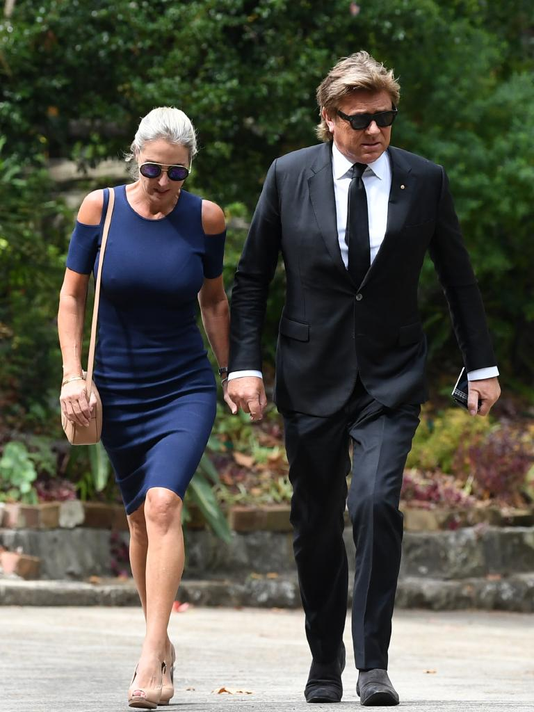 Virginia Burmeister and Richard Wilkins. Picture: AAP Image/Joel Carrett