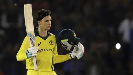 Peter Handscomb scored a matchwinning century in the fourth ODI against India. Picture: AP)