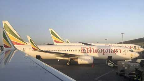 Ethiopian Airlines confirmed there were no survivors of Flight ET302 — a Boeing 737-8 aircraft — which was carrying 157 people. Picture: AP Photo/Ben Curtis.