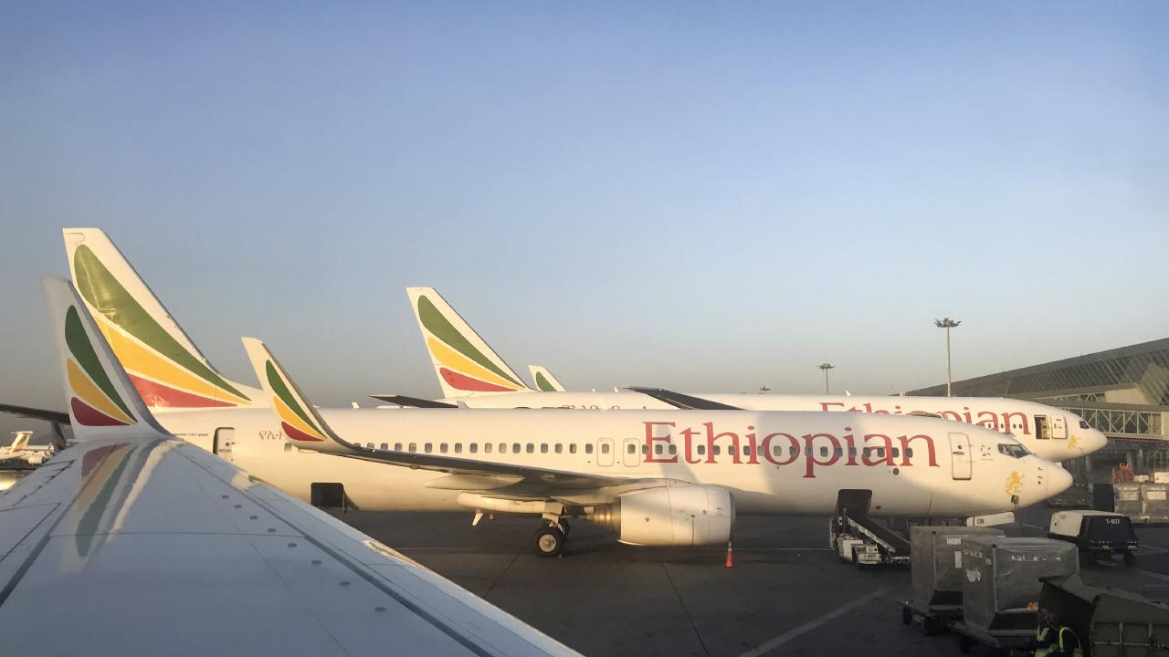 An Ethiopian Airlines Boeing 737-800 parked at Bole International Airport in Addis Ababa, Ethiopia. Picture: AP