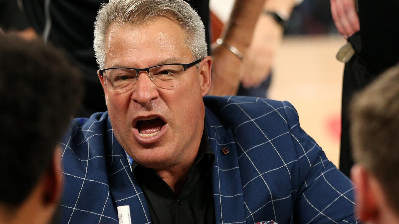 Melbourne United coach Dean Vickerman during Game 2 of the NBL Grand Final series between the Perth Wildcats and the Melbourne United at Melbourne Arena.