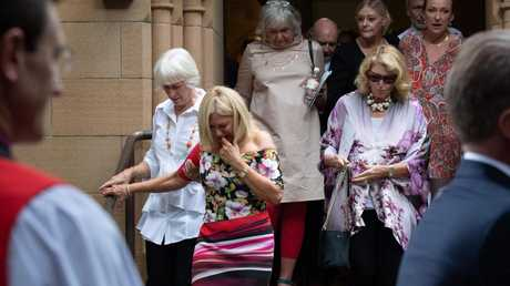 Kerri-Anne Kennerley pictured leaving the church. Picture: Monique Harmer