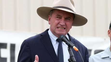 "Barnaby Joyce said he was still the ""elected Deputy Prime Minister of Australia"" in an interview this morning. Picture: Andy Rogers"