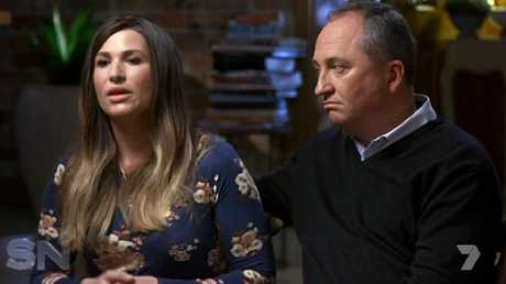 """Deputy Prime Minister with new partner Vikki Campion. Deputy Prime Minister Michael McCormack seemingly launched a personal attack when he declared he """"understood what it takes to make a marriage work"""". Credit: Channel 7"""