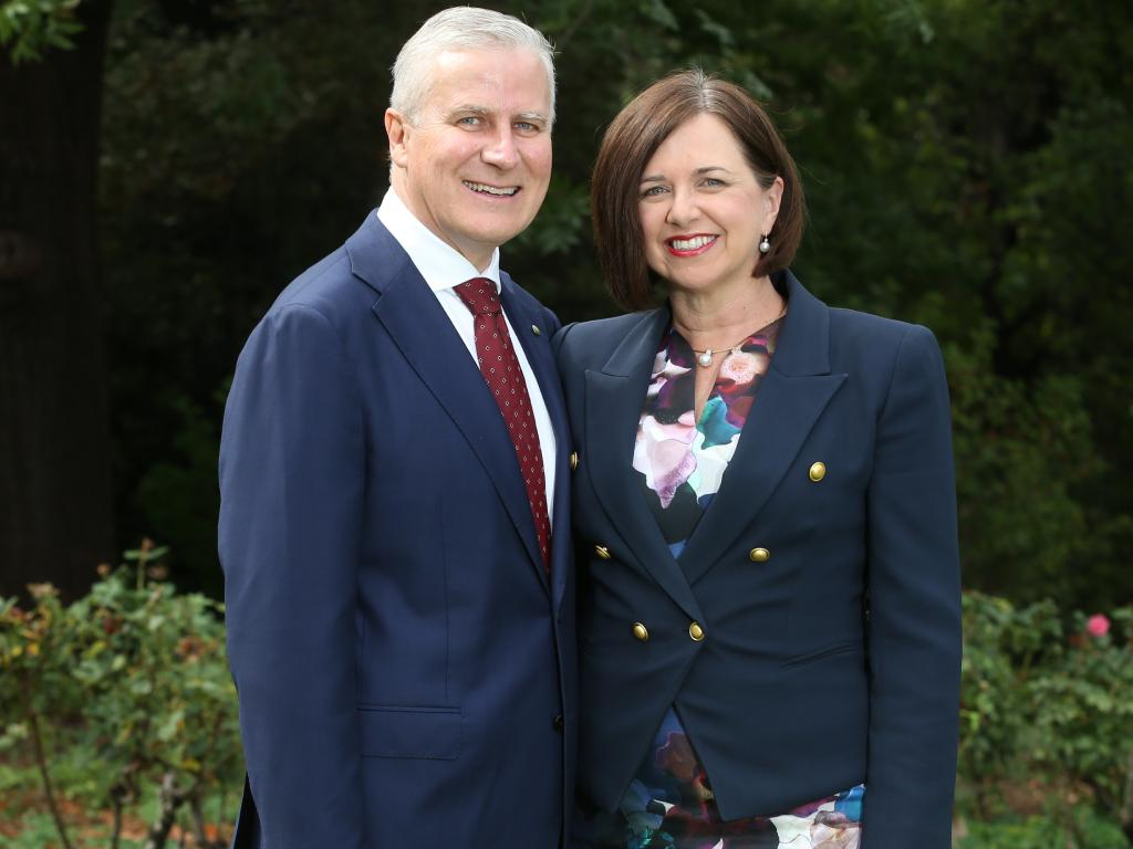 Actual Deputy Prime Minister Michael McCormack with his wife Catherine. Picture Kym Smith