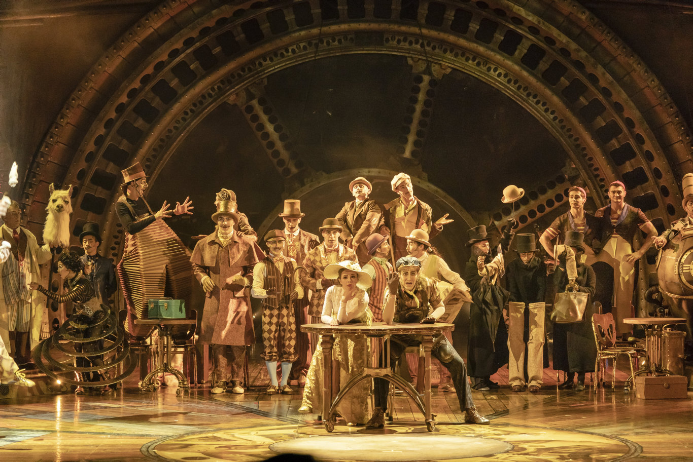 A scene from the Cirque du Soleil show Kurios - Cabinet of Curiosities.