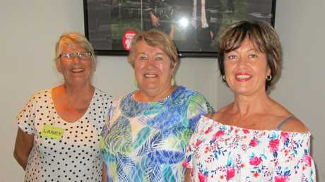 The Hervey Bay MS Support Groups carers and volunteer angels Laney Grove, Cath Meyer and Bernie Coulson who loving help with transport and assistance.