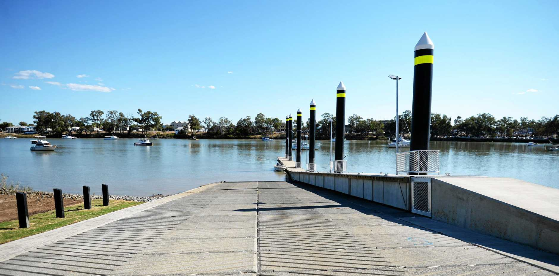 New boat ramps have been announced for Port Alma. The North Rockhampton boat ramp is pictured.