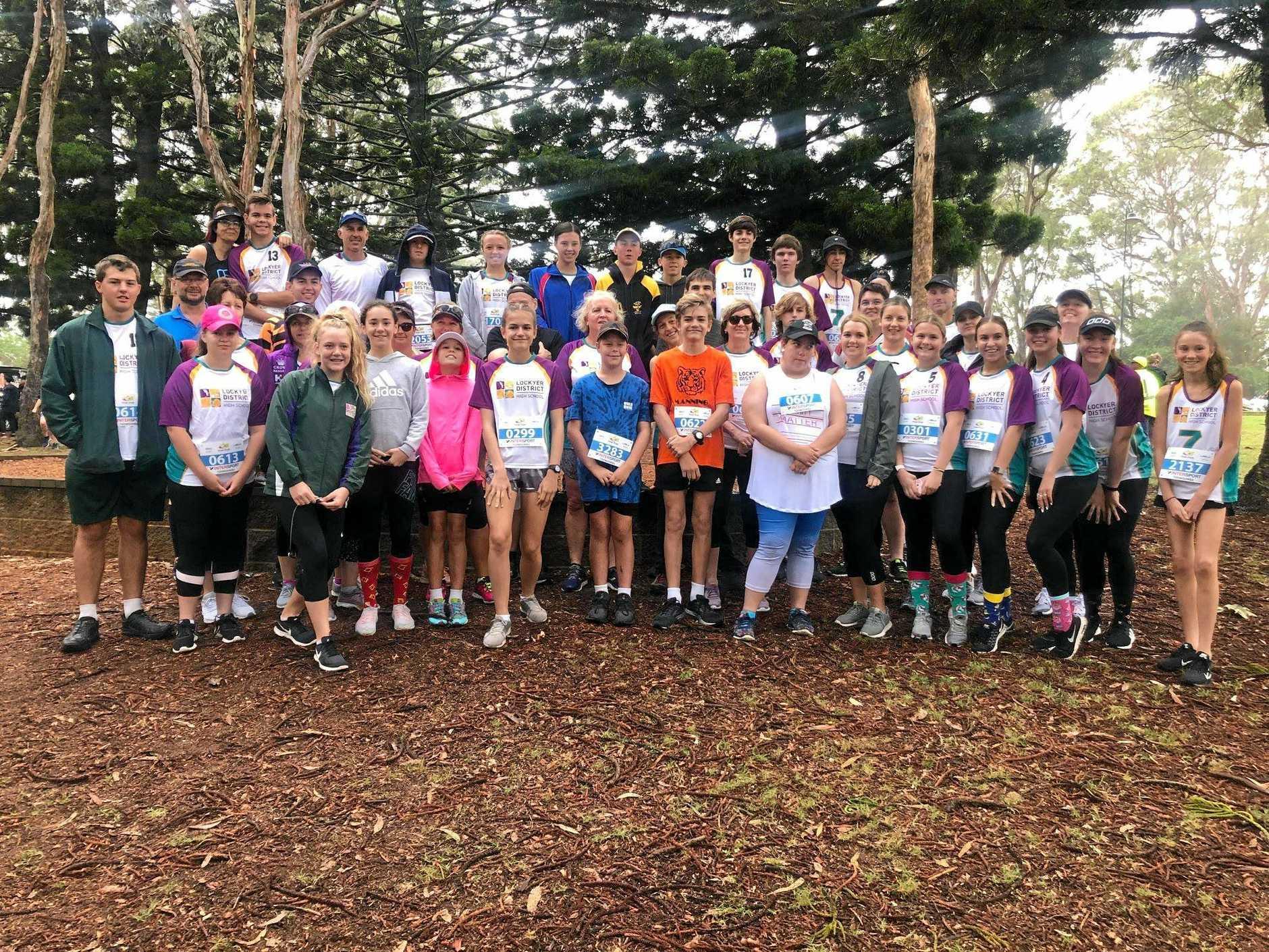 STRONG GROUP: Lockyer District High School's Peak2Park team.
