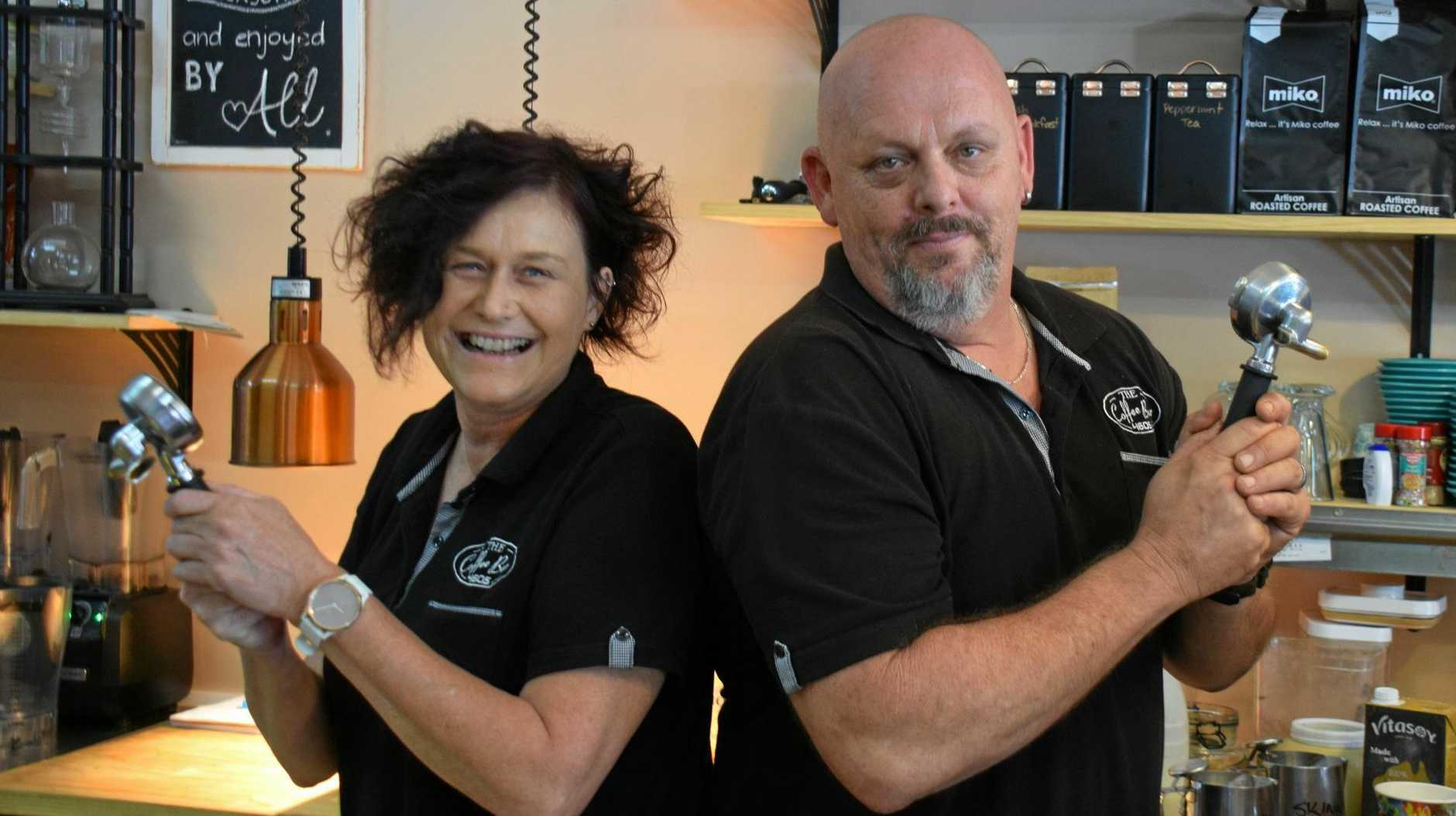 DYNAMIC DUO: Helen and Shaun Walker from Coffee Bar 4605 in Murgon took out the People's Choice Award for South Burnett's best coffee shop.