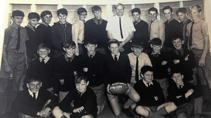 LOOKING BACK: The 1969 Allora State School football team, 14-year-old Perry Cronin is in the back row, second from the right.
