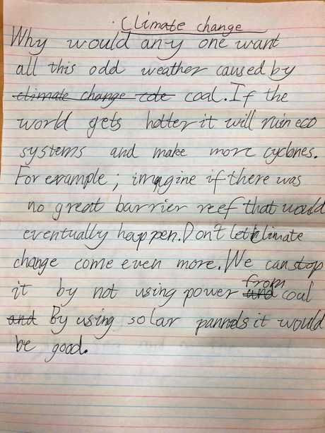 POEM: Nine-year-old Toby Tansley wrote a poem about his concern for the environment and climate change.