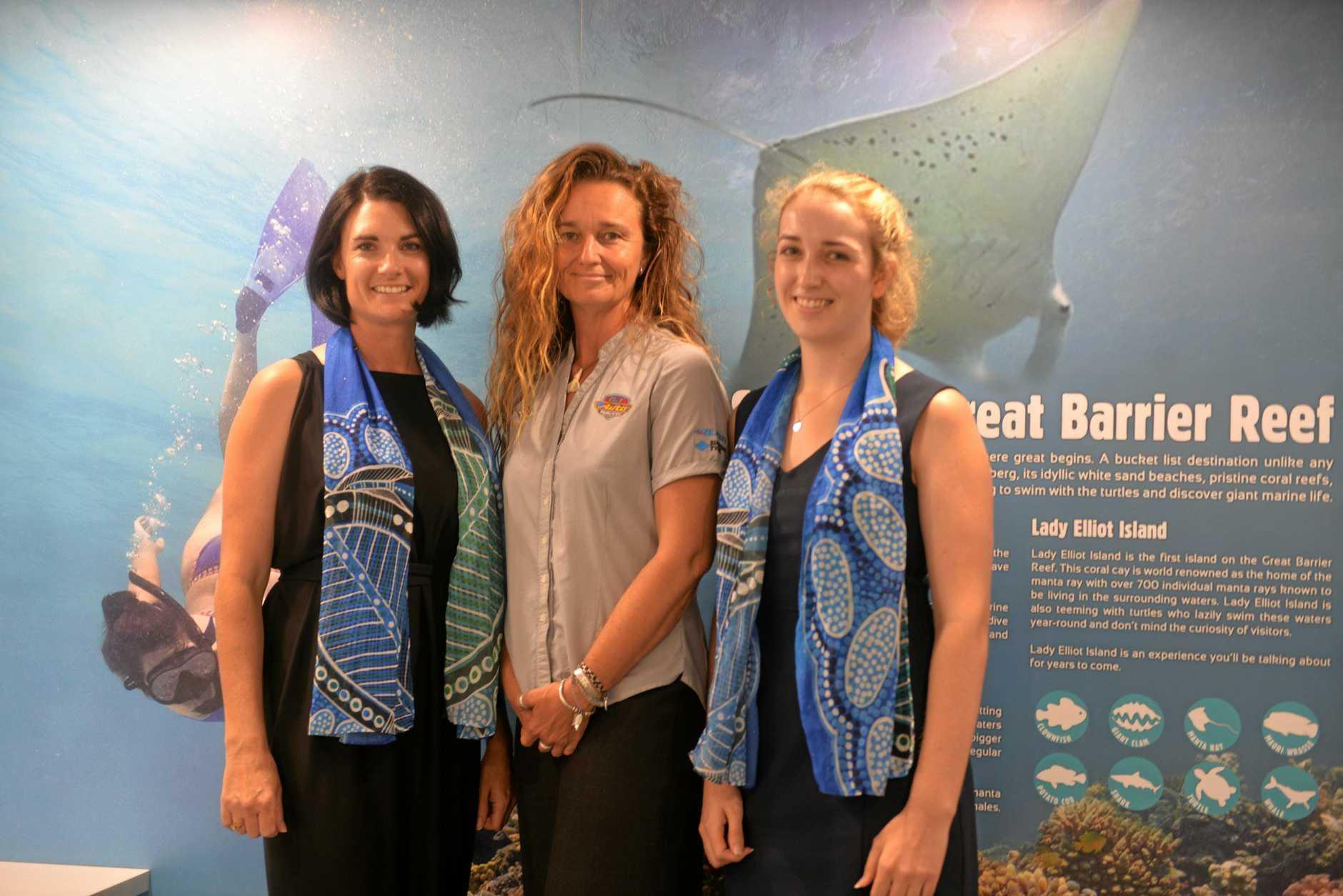 Bundaberg Tourism general manager Katherine Reid, photographer Tracy Olive and Bundaberg Tourism's Greer Zunker.
