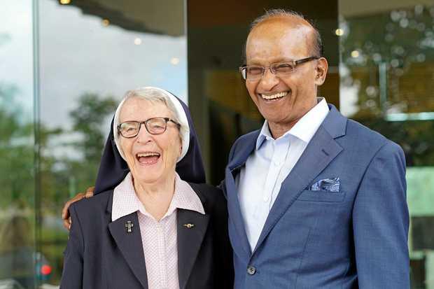 Sister Angela Mary Doyle OAM and SCG Chairman Maha Sinnathamby