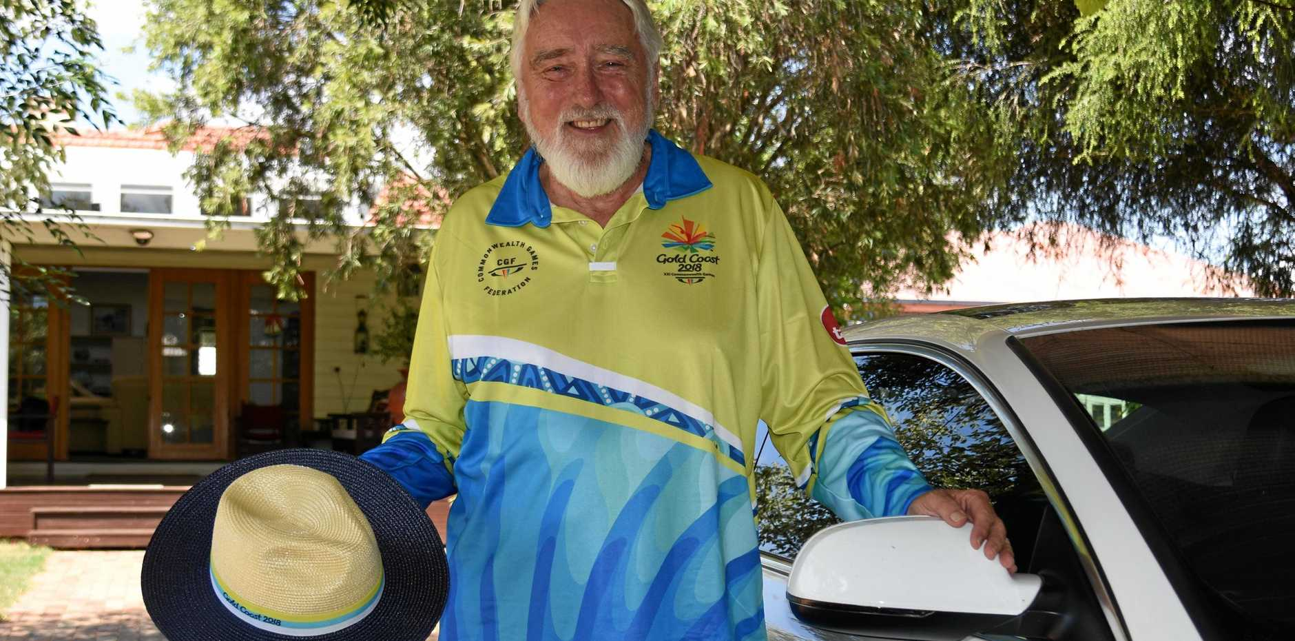 GET TOGETHER: Don Hughes drove around VIP guests for the Gold Coast Commonwealth Games.
